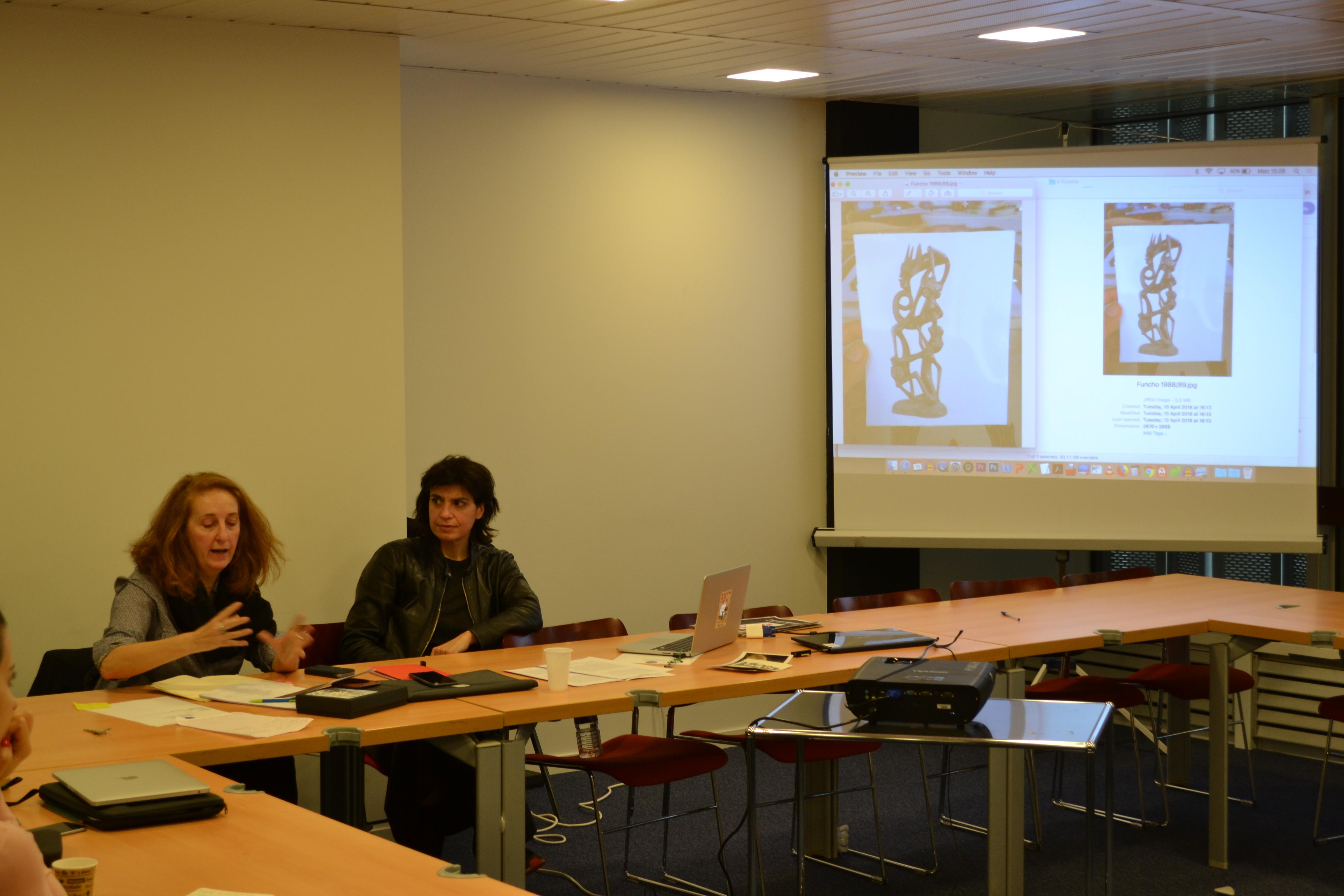 La Volonté des Archives, conference at Collège d'Etudes Mondiales, Fondation Maison de Sciences de l'Homme, Paris, November 2018, image credits: Thais de Rodez.
