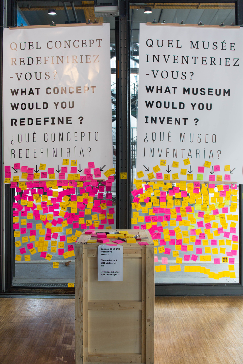 Laagencia interactive work as part of 'Cosmopolis' at Centre Pompidou // Courtesy of Laagencia