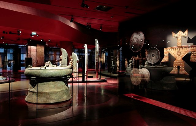 Quai Branly Museum interior view on permanent collection