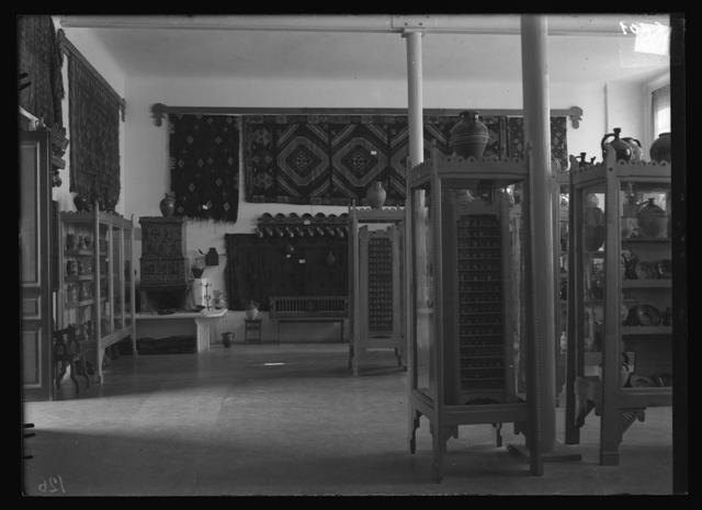 3. Exhibition in the Museum of Etnography, National Art, Decorative Art and Industrial Art in Bucharest, from The Ethnological Archive of The National Museum of the Romanian Peasant, Bucharest, glass plate negative, reference code CS-201 (between 1880 - 1945)
