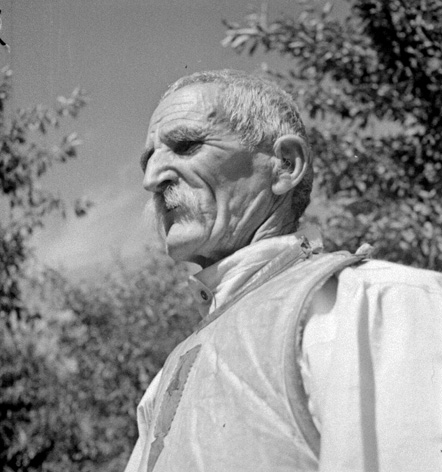 Image 12 BA-520 | Portrait of an old peasant, unidentified location, 1939. Photographer: Aurel Bauh. Bauh Aurel collection