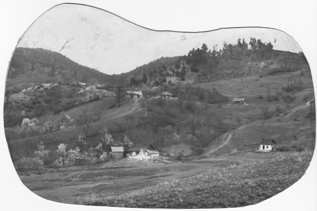 38. Village View, from The Ethnological Archive of The National Museum of the Romanian Peasant, Bucharest, Popular Art Museum Collection, Photography on Black and White Paper, reference code MAP -8156, (between 1880 - 1990)