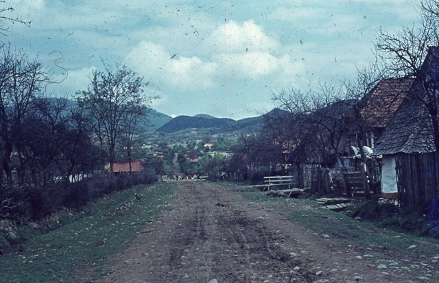 34. Photography by Tancred Bănăteanu, Landscape, from The Ethnological Archive of The National Museum of the Romanian Peasant, Bucharest, Popular Art Museum Collection, Colour Slide, reference code MAP-D-2693, (between 1932 - 1963)