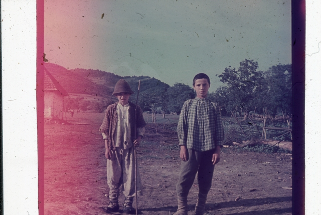 35. Characters in Landscape, from The Ethnological Archive of The National Museum of the Romanian Peasant, Bucharest, Popular Art Museum Collection, Colour Slide, reference code MAP-D-2851, (between 1932 - 1963)
